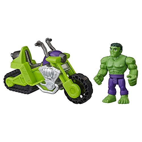 Hasbro E6225EU4 Heroes Marvel Super Hero Adventures Hulk Schmetter Bike, 12,5 cm große Figur mit...