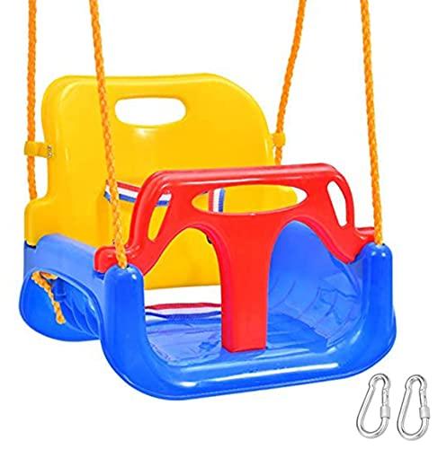 Emwel Babyschaukel Outdoor - kinderschaukel 3 in 1 Kinderschaukel Indoor Kinderschaukel für Baby und...