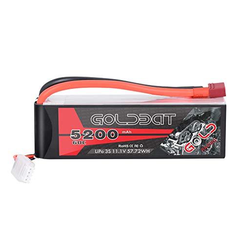 GOLDBAT RC Lipo Batterie 3S 5200mAh 60C 11.1V RC Batterie Soft Akku Pack mit Deans Anschluss für RC Auto...