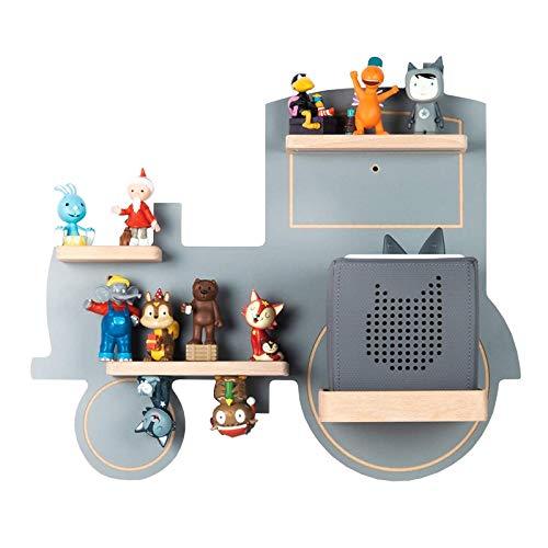 BOARTI Kinder Regal Trecker small in Grau - geeignet für die Toniebox und ca. 23 Tonies - zum Spielen...