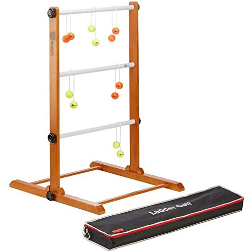 Profi Twistladder Leitergolf Fluor Gelb Orange Echte-Golfbälle - Laddergolf Prof-set - Model 2021 -...