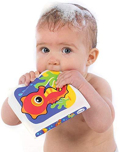 Playgro Wasserfestes Bilderbuch, Mit Quietschfunktion, Ab 3 Monaten, BPA-frei, Splash Book, Bunt, 40013
