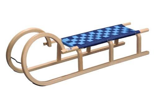 Hörnerrodel mit Sitzfläche aus wasserabweisendem Kunststoffgewebe
