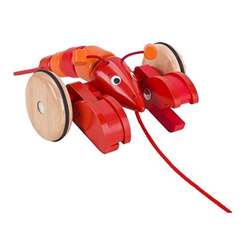 Goki 54904 Ziehtier 'Hummer' aus Holz
