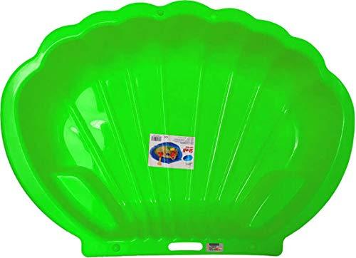 thorberg Sandbox Sandkasten Sandmuschel Muschelform groß 108x79cm XL, Für Tiere geeignet! (grün)