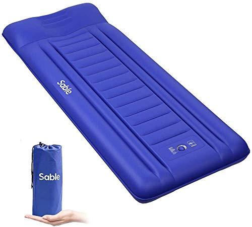 Sable Isomatte Camping Handpresse aufblasbare Luftmatratze Kleines Packmaß und Leichte 14cm Dick Schnell...