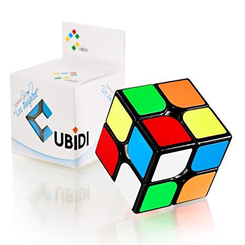 CUBIDI® Zauberwürfel 2x2 - Typ Los Angeles - ohne Sticker - Speed-Cube mit optimierten...