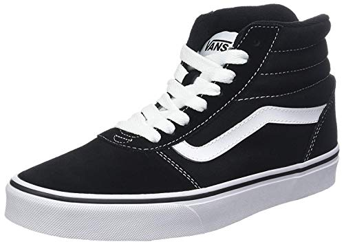 Vans Herren Ward Hi Sneaker, Schwarz ((Suede/Canvas) Black/White C4R), 45 EU