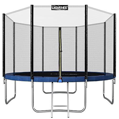 LARMNEE Trampolin Rundes Ø 305 cm, Gartentrampolin, Outdoor Tampolin, Kindertrampolin, mit...