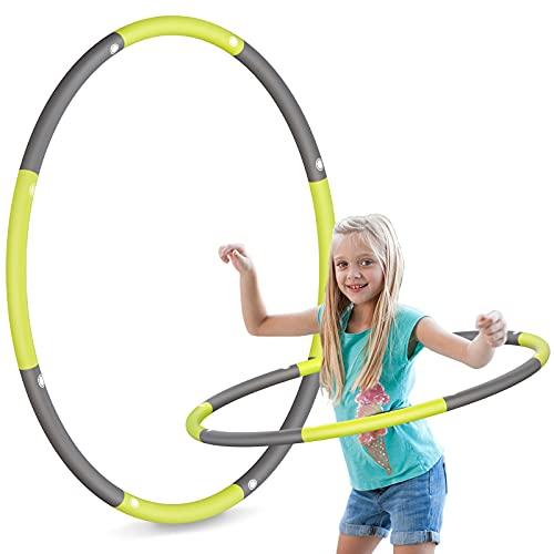 TCIOD Hoola Hoop Kinder, 8 Abschnitte Abnehmbare Hoola Hoop Reifen Kinder, Gewicht 750g, Kinder Hoola...