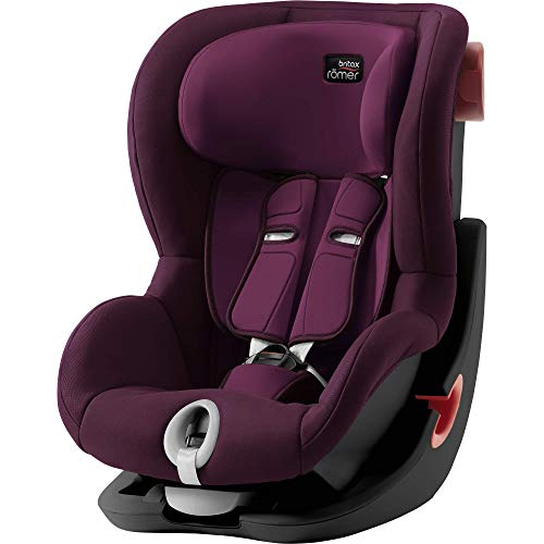 Britax Römer Kindersitz 9 Monate - 4 Jahre I 9 - 18 kg I KING II Autositz Gruppe 1 I Burgundy Red