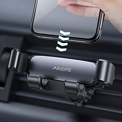 AINOPE Handyhalterung Auto Schwerkraft Lüftung, [Hakenclip-Design] Handyhalter fürs Auto Zubehör...