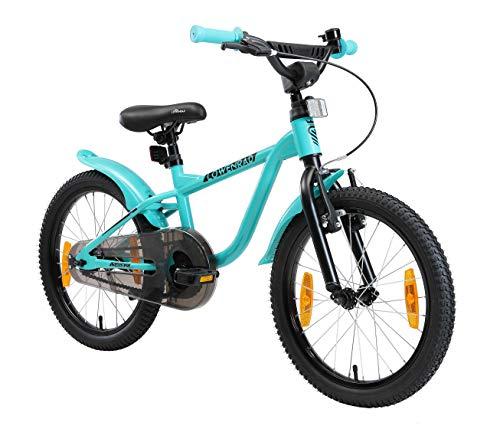 LÖWENRAD Kinderfahrrad für Jungen und Mädchen ab 5 Jahre   18 Zoll Kinderrad mit Bremse   Fahrrad für...