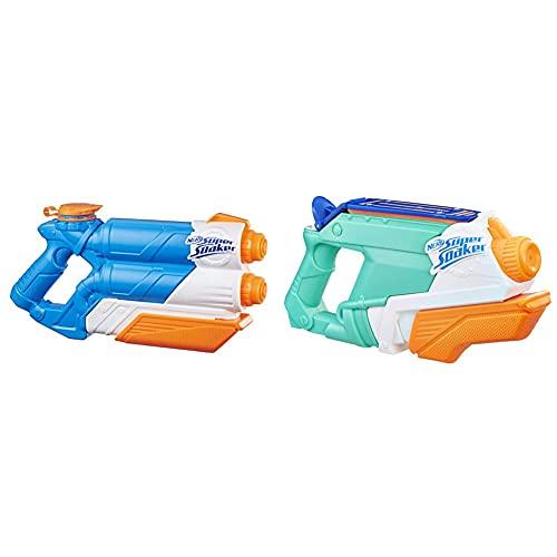 Super Soaker Twin Tide, Wasserpistole mit doppelter Spritzpower und Pump-Funktion & Super Soaker Splash...