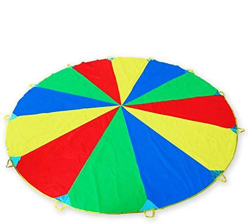 12ft/ 3.5m Schwungtuch Fallschirm Spielzeug für Kinder und Familie, Bunt Fallschirm Parachutes Spielzeug...