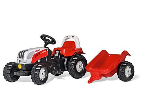 Rolly Toys 012510 - rollyKid Steyr 6165 CVT Trettraktor (mit Anhänger, für Kinder ab 2,5 Jahre,...