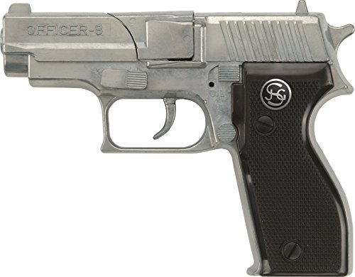 PARTY DISCOUNT J.G.Schrödel Officer: Spielzeugpistole für Zündplättchen, Ideal für das...