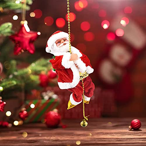 Kletternder Weihnachtsmann Santa Crawl | Weihnachtsmann Musikalisches Kletterseil | Elektrisches...