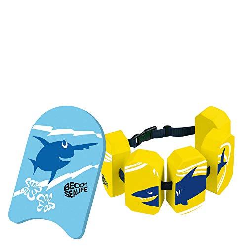 Beco Sealife Schwimmbrett mit Schwimmgürtel blau/gelb Wassersport Kinder Aqua