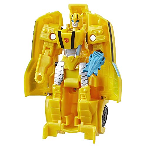 Transformers Hasbro E3642EZ2 Bumblebee Cyberverse Adventures Action Attackers 1-Step Bumblebee Figur,...