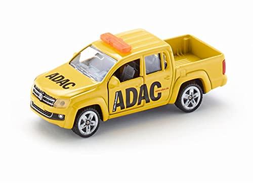 siku 4366736 1469, ADAC Pick-Up, Metall/Kunststoff, Gelb, Spielzeugauto für Kinder, Öffenbare Türen