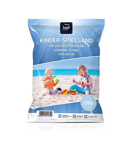 4myBaby GmbH Best for Garden 25kg Spielsand Quarzsand für Sandkasten Dekosand TÜV geprüft TOP...