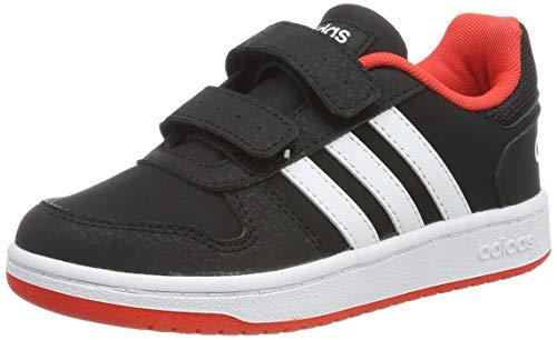adidas Unisex-Kinder Hoops 2.0 CMF Fitnessschuhe, Schwarz (Negbás/Ftwbla/Roalre 000), 31.5 EU
