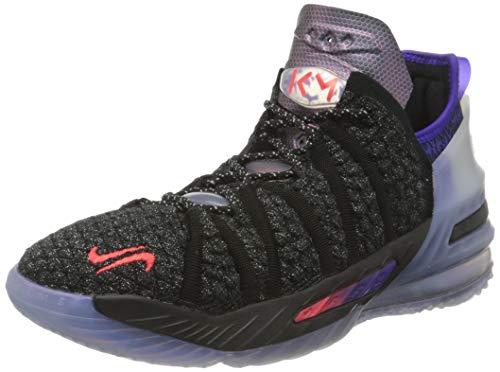 Nike Lebron 18 NRG Basketball Shoe, Black/Fierce Purple/Metallic Silver/Multi-Color, 36 EU