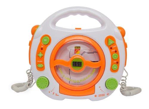 Idena 6800533 CD Player Sing Along für Kinder, tragbar und batteriebetrieben, mit USB Anschluss,...