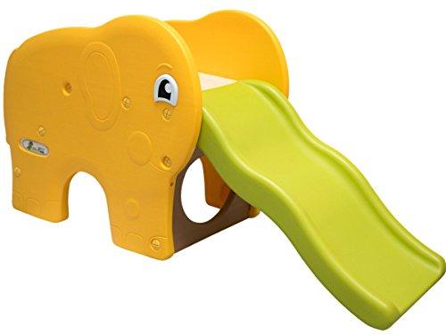 Little Tom Kinderrutsche Elefanten Kinder Rutsche extra breite Stufen Wellenrutsche Gartenrutsche...