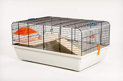 Ollesch Mäusekäfig Hamsterkäfig Nagerkäfig 59 x 38 x 29 cm mit Zubehör