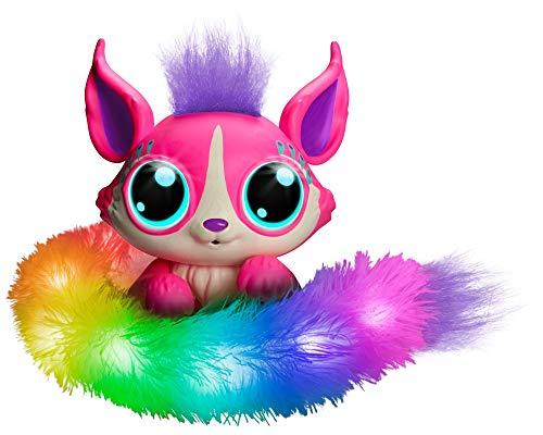Mattel GHP17 - Lil´Gleemerz Adorbrite pink interaktives Spielzeug reagiert auf Berührung und Klang,...