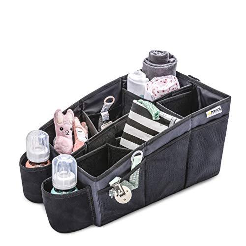 Hauck Organize Me, Auto Utensilientasche, Rückbank Organizer, Autobox, Kofferraumbox, Faltbox Tasche mit...