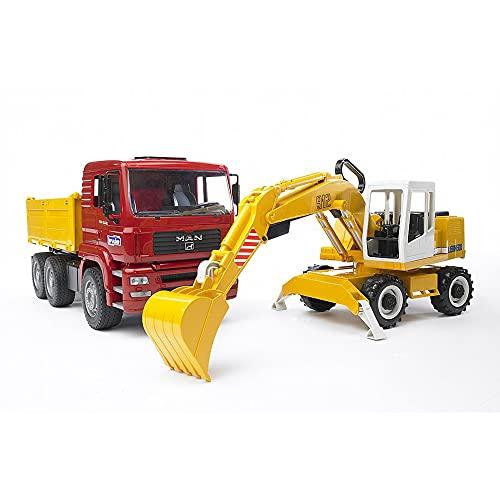 Bruder 02751 - MAN TGA Kipplastwagen mit Liebherr Schaufelbagger
