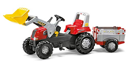 Rolly Toys 811397 rollyJunior RT | Traktor mit Frontlader | Lader und Anhänger rollyFarm Trailer |...