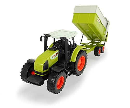 Dickie Toys CLAAS Ares Set, großer Traktor mit Anhänger und Kippmechanismus, 57 cm lang, für Kinder ab...