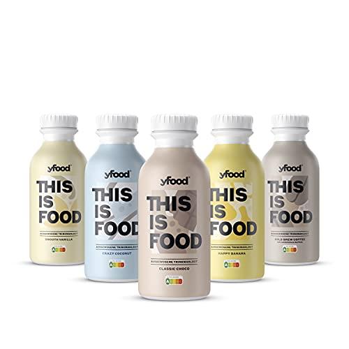 yfood Probierpaket | Leckere Trinkmahlzeit für unterwegs | THIS IS FOOD Drink | 34g Protein, 26 Vitamine...