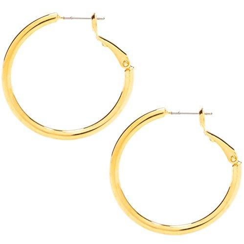 Ohrringe Medium, 24K Gold über Bronze - Premium Mode-Schmuck für Frauen - Hypoallergen, sicher für die...