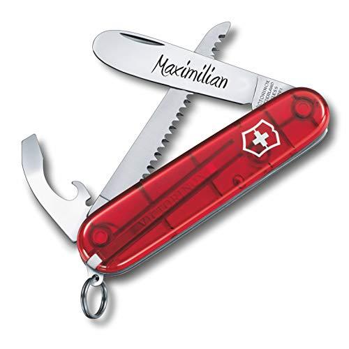 Victorinox Kinder Taschenmesser My First Wunsch Gravur runde Klinge I Geschenk für Kinder I zum...