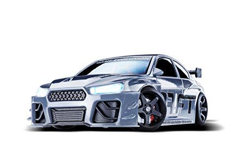 DR!FT Racer Silver V8 Sport ferngesteuertes Drift Auto, Rc Car mit realistischer Fahrdynamik zur...