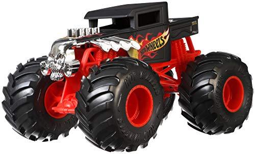 Hot Wheels GCX15 - Monster Trucks 1:24 Die-Cast Spielzeugauto Bone Shaker, Spielzeug ab 3 Jahren