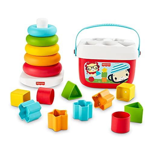 Fisher-Price GRF11 - Fisher-Price Stapel & Sortier Spielset, Geschenkset, Kinderspielzeug aus...
