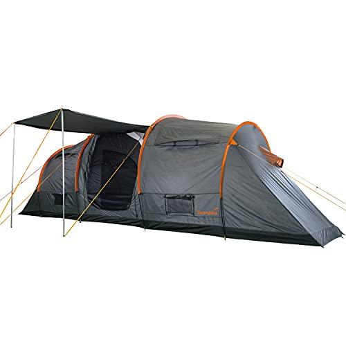 Skandika Trivelig Zelt für 6 Personen   Familienzelt mit 2 dunklen Schlafkabinen, eingenähter...