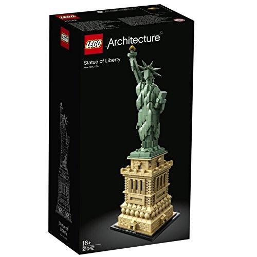 LEGO 21042 Architecture Freiheitsstatue, Modell zum Bauen, New York Souvenir, Geschenkidee für Sammler...