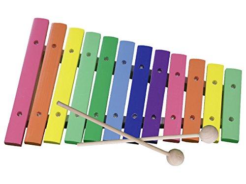 Concerto 701309 Xylophon Töne, Xylofon aus Holz, Kinderxylophon ca. 32,5 cm, Kinderinstrument mit 12...