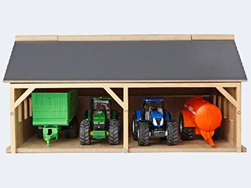 Kids Globe Bauernhofschuppen Scheune 1:50 (Bauernhofspielzeug aus Holz, für Traktoren und Anhänger,...