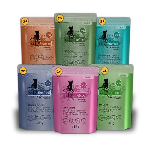 catz finefood Multipack 2, 12 x 85g Beutel, Feinkost Katzenfutter nass, Sorten Mix-Paket 2 mit Huhn,...