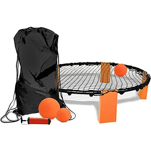 TOPOWN Spiele Ball Set, Roundnet Set mit 3 Bällen, Strike Ball-Spiel, Smackball, Rasenteam Sportspiel,...