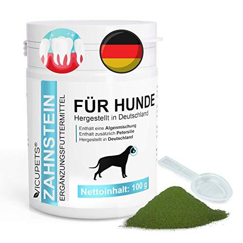 Vicupets Zahnsteinentferner Hund   100g Zahnpulver für Hunde   Prophylaktische Zahnpflege Hund gegen...