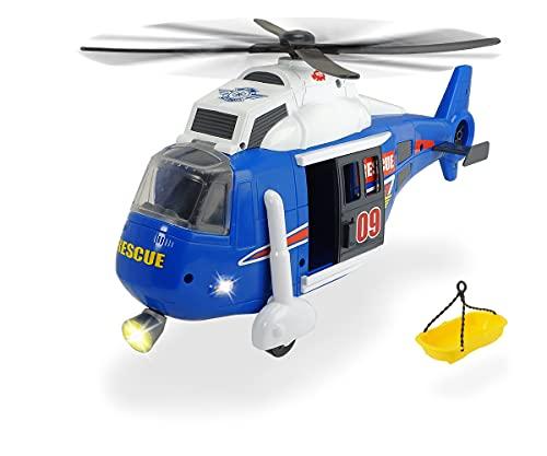 Dickie 203308356 Toys Spielzeughelikopter mit batteriebetriebenen Drehpropeller, Helikopter mit...